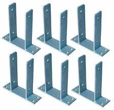 6x Et Post-Responsables pour Poteaux de Clôture 9x9 CM Dévisser Galvanisé Ancre