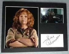 [A0388] Julie Walters HARRY POTTER Signed 12x16 Display AFTAL