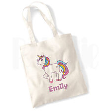 Personalised Unicorn Reusable Cotton Canvas Tote Bag
