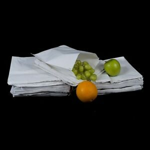 """100 White Sulphite Paper Food Bags Market Stall Bags Shops Cafes Part   6"""" x 6''"""