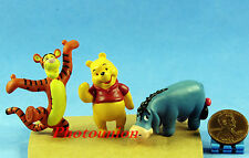 DISNEY Winnie DOLL Collectible Figur Modell Puuh Tiger Donkey Set 3 A361toA363