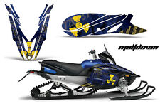 YAMAHA APEX GRAPHIC KIT AMR RACING SNOWMOBILE SLED WRAP DECAL 12-13 MELTDOWN BLU