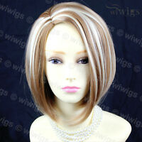 Classy Sophisticate Short Bob Skin Top Blonde mix Ladies Wigs from WIWIGS UK