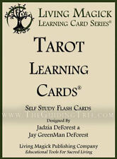 Tarot Flash Cards - Living Magick Learning Cards =-- AUTOGRAPHED 1st Edition --=