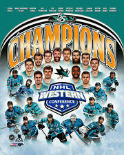 SAN JOSE SHARKS Western Conference CHAMPIONS 2016 Premium Commemorative POSTER
