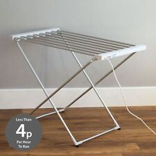 Portable Heated Clothes Airer Folding Indoor Laundry Washing Dryer Horse Rack