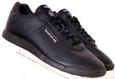 Reebok Princess Lite AR1268 Blk Leather Laced Lightweight Sneaker Women's US 10W