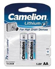 2 x Camelion LITHIUM Batterien AA Mignon 1,5V 1 Blister mit 2 Stück MHD 10-2028