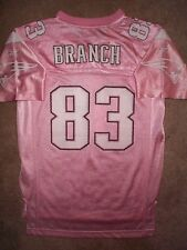 PINK New England Patriots DEION BRANCH nfl Jersey Youth *GIRLS* (L-LARGE)