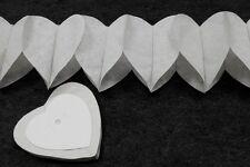 2 Guirlandes papier mini-coeurs Blanc4 m.  Décoration de mariage