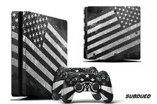 Skin Decal Wrap For PS4 Slim Playstation 4 SLIM Console + Controller Stickers SD