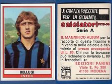 FIGURINA CALCIATORI PANINI 1973/74 - NUOVA/NEW N.148 BELLUGI - INTER