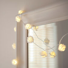 30 LED White Rose Flower Indoor Fairy Lights by Lights4fun