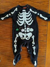 Halloween Baby Grow Skeleton Size 6-9 Months Mothercare
