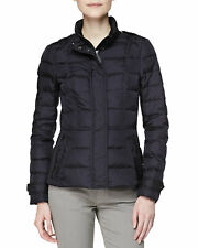 $700 NWT BURBERRY BRIT DALESBURY BLACK QUILTED CHECK DOWN PUFFER COAT JACKET XL