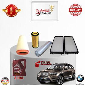 KIT TAGLIANDO FILTRI + OLIO BMW X5 E70 3.0d 173KW 231CV DAL 2009 -> 2010