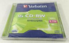 Verbatim CD-RW 700MB  80 MN  8-12X CD-Reinscriptible Neuf blister boitier abime