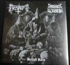 "BESATT / SARDONIC WITCHERY - Hellish Rites. 7"" Black Vinyl Split EP"