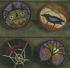 """Threads That Bind """"Sleepy Hollow"""" Punchneedle Embroidery Pattern w/ Fabric"""