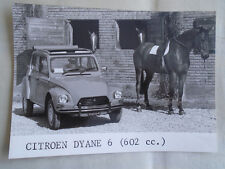 Citroen Dyane 6 press photo brochure 1970's