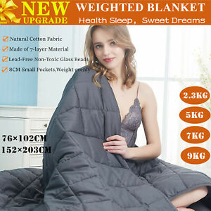 2.3/ 5/ 7/ 9KG Cotton Bedding Weighted Blanket Heavy Gravity Deep Relax Sleeping