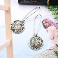 Women's Round Geometric Earrings Chic Color Shell Earrings Jewelry Gift S