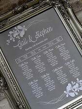 A3 butterfly frame wedding table seating plan - any col can do A2