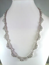 JUDITH RIPKA STERLING PAVE' DIAMONIQUE LINK NECKLACE (M305-4-15)
