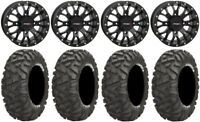 "System 3 ST-3 Black 14"" Wheels 28"" BigHorn Tires Sportsman RZR Ranger"