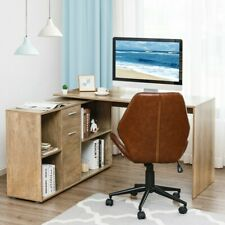Rotating L-shape Corner Writing Study Computer Desk