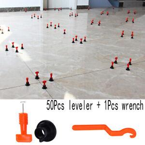 50Pcs/set Flat Ceramic Floor Wall Construction Tools Tile Leveling System Kit