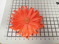 UK-Large,Orange - Satin Ribbon Flowers-  Appliques,Trimmings ,Wedding- 90mm x 1