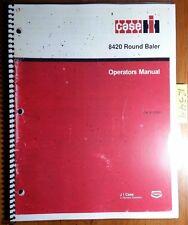 Case IH International Harvester 8420 Round Baler Owner's Operator's Manual 11/87