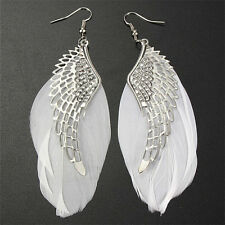 New Angel Wing Feather Dangle Earring Vintage Jewelry Long Earrings for WomeBLCA
