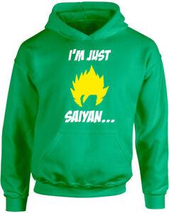 I'm Just Saiyan, Dragonball Z inspired Kid's Printed Hoodie