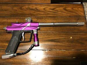 Azodin Blitz 3 - Purple and Silver Paintball Marker W/ Box ~ CLEAN Paintball Gun