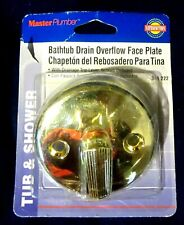 MASTER PLUMBER BATHTUB DRAIN OVERFLOW FACE PLATE--MODEL 341222--POLISHED BRASS