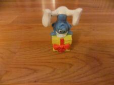 The Smurfs Jokey Smurf Gift Present PVC Figure from McDonald's 2011 Cake Topper
