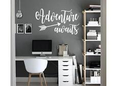 ADVENTURE AWAITS Vinyl Wall Art Decal Sticker Decor Lettering Quote Wanderlust