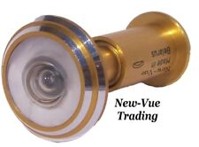 290 Degree Wide Angle Peephole Door Viewer Scope Gold Metal