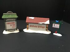 Dept 56-Christmas In The City Sign 5960-9, Dickens Village Sign, Village Realty