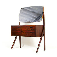 Retro Vintage Scandinavian Danish Rosewood Dressing Table Chest of Drawers 60s