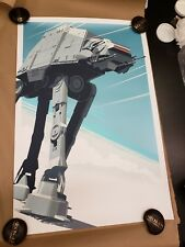 Craig Drake At-At regular 24x36 Star Wars Empire Strikes Back Mondo Hcg Le