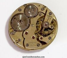 SS & CO SWISS LEVER IWC IMPORTER WRISTWATCH MOVEMENT  SPARES OR REPAIR CC17