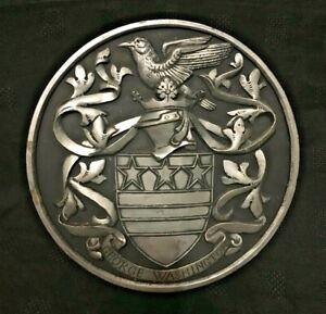 George Washington Plaster Armorial Heraldic Plaque  - Heraldic Heritage
