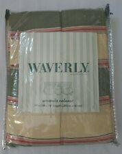 "Amanda Valance by Waverly Melrose Stripe Sorbet  79""Wide x 16""Long 100% Cotton"