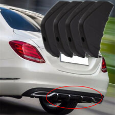 4x Universal Rear Bumper Diffuser Moulding Shark Fin Retrofit Spoiler Black PVC