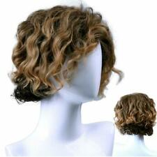 Men Long Curly Wave Blonde Wig Synthetic Hair Heat Resistant Male Fashion Style