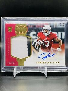 2018 Panini Plates Patches CHRISTIAN KIRK Auto Patch Rookie RC SP /99 Cardinals