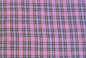 Tartan Kintyre Pink Craft Dress Fabric 150 cm Wide  fabric FREE P&P